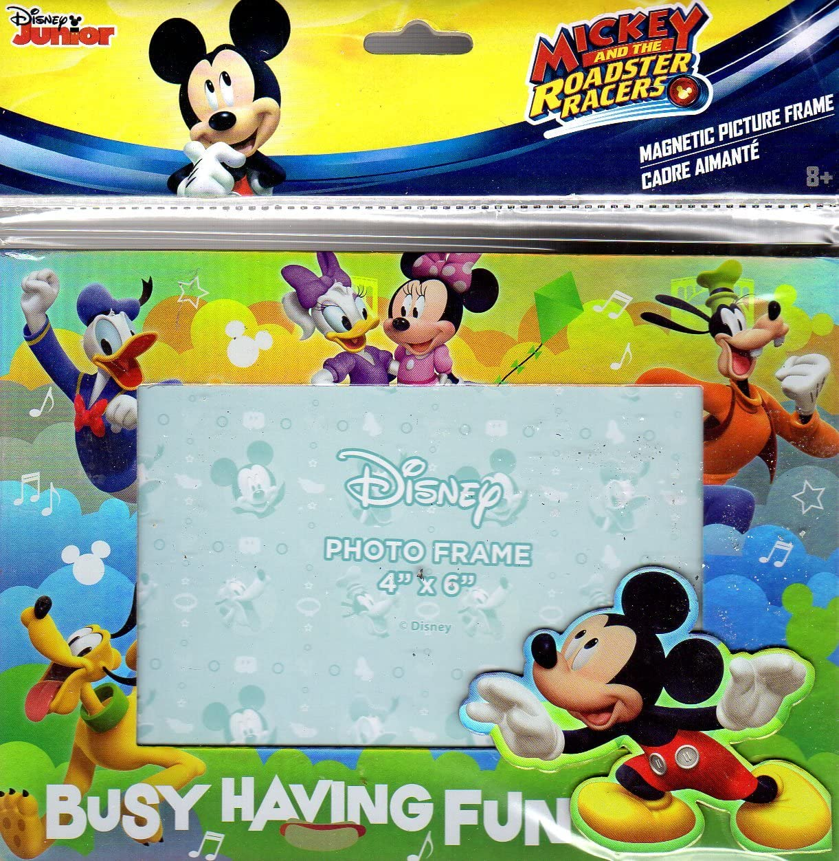 """Disney Minnie Mouse Magnetic Picture Frame 4/"""" x 6/"""" New Free Shipping"""