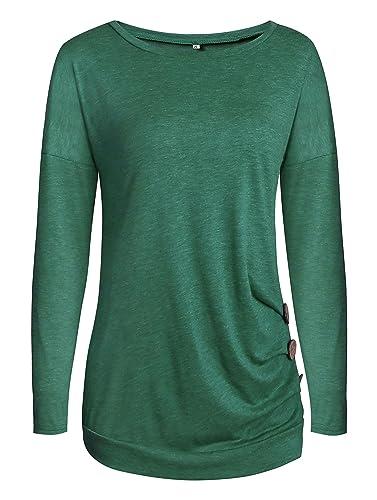 PENGSSTYLE - Camisas - Cuello redondo - para mujer