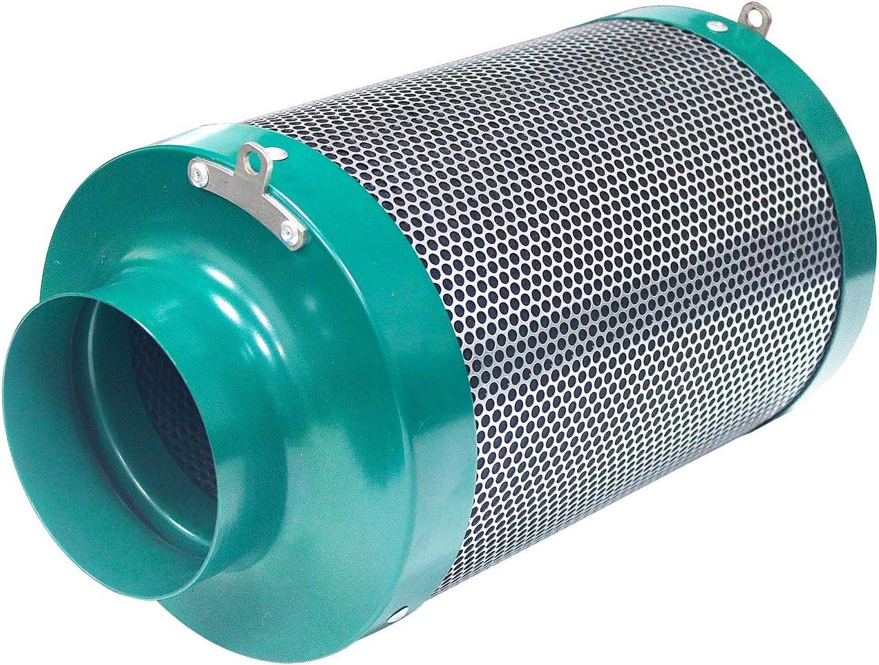 MELONFARM 4 Inch Inline Air Carbon Filter Carbon Filter Odor Control Scrubber