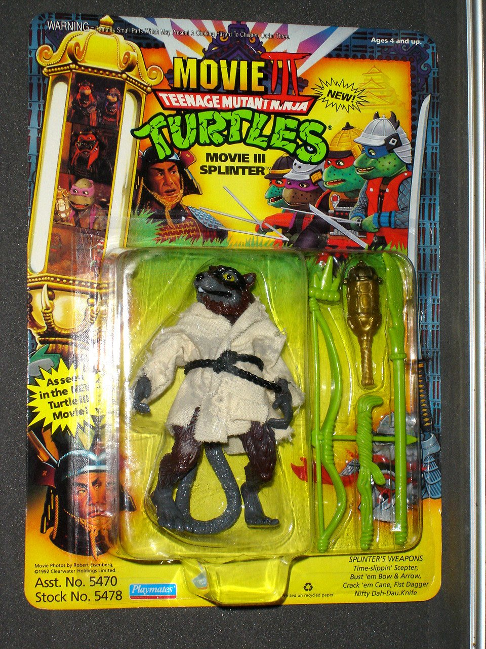 TMNT Movie III Movie Splinter Playmates