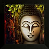 SAF UV Textured Religious Buddha Synthetic Frame Painting(14 inch x 14 inch)