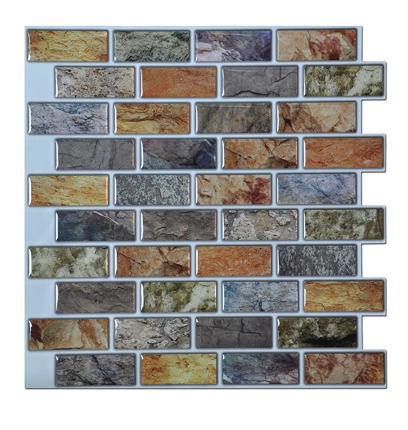Art3d Peel U0026 Stick Bathroom/Kitchen Backsplash Tiles, 6 Piece     Amazon.com