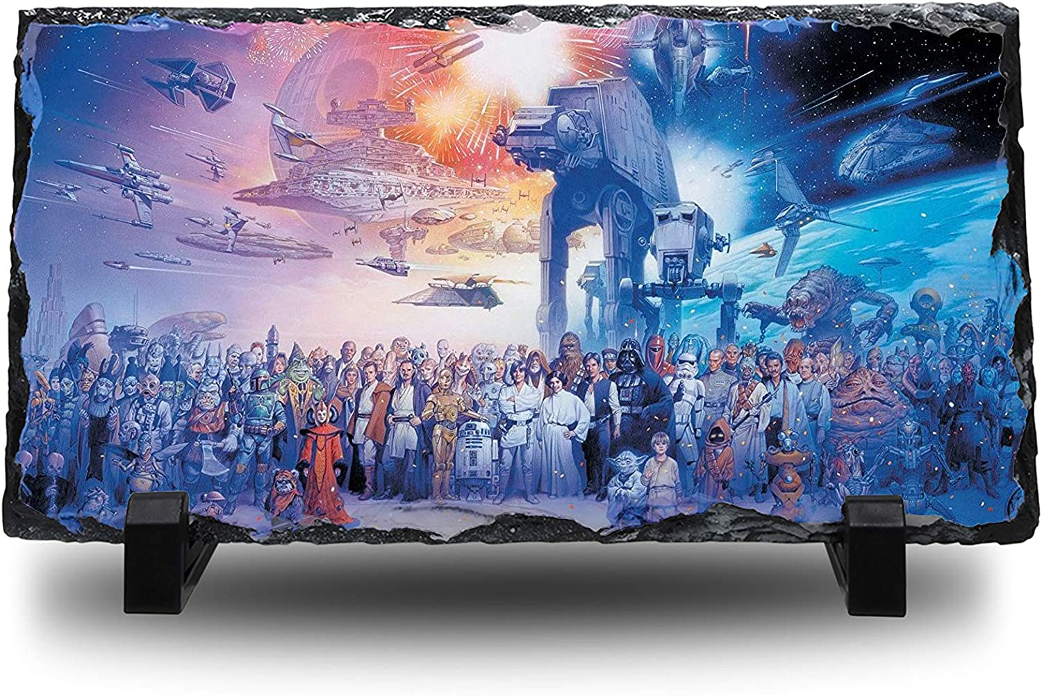 Generations Natural Rock Slate with Stand Anime Desk Art Gift UK Star Wars