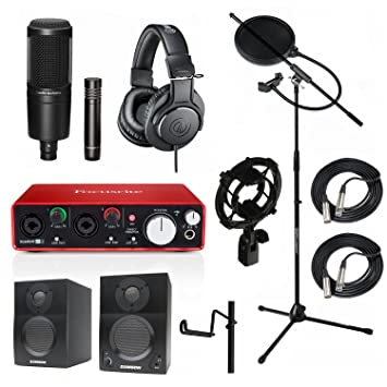 Home Studio d'enregistrement Bundle Audio Technica At2041sp ATH-M20