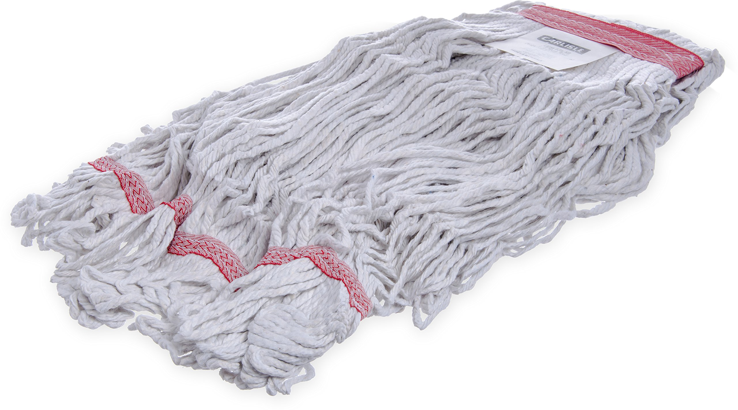 Carlisle 369425B00 Loop-Ended Narrow Band Mop Head Only, Large, Red (Pack of 12) by Carlisle