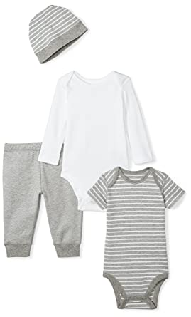 00fb891303132 Amazon.com: Moon and Back Baby 4 Piece Organic Playtime Gift Set: Clothing