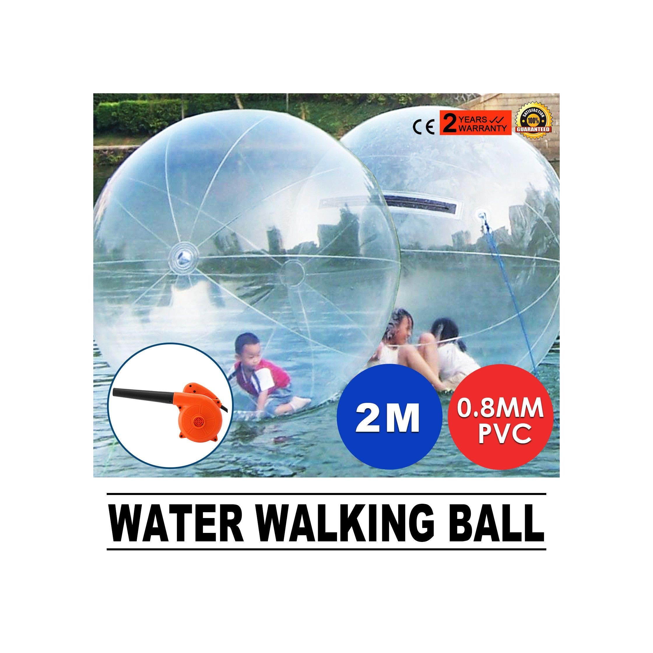 Reliable Safe 2M Water Walking ZORB Dance ROLL Ball Inflatable TI-Zip Zipper Fun Play Quick Arrive