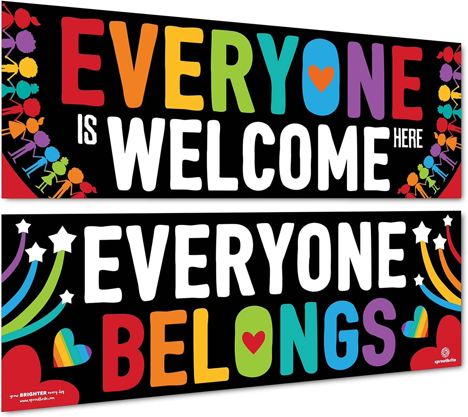 Sproutbrite Classroom Decorations - Welcome Banner and Poster for Teachers - Bulletin Board and Wall Decor for Pre School, Elementary and Middle School