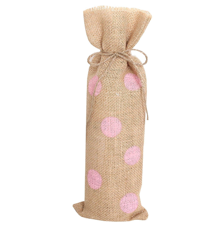 Saco para botella lunares rosa set 10 unidades: Amazon.es ...
