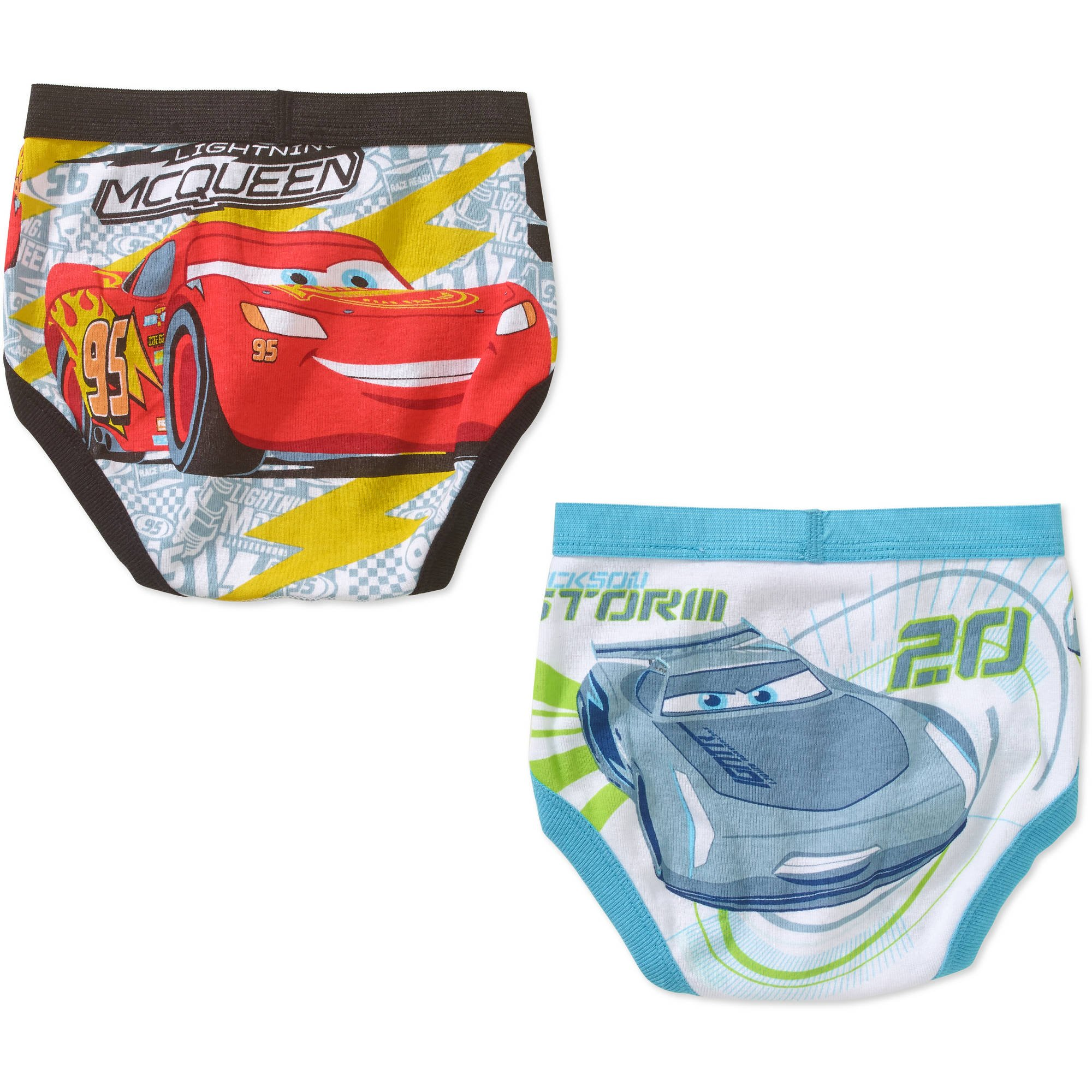 Handcraft Disney Pixar Cars Toddler Boys' Underwear Briefs, 3 Pack, Size 4T
