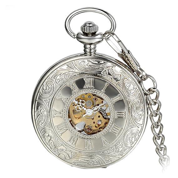Precioso reloj de bolsillo Steampunk con números romanos.