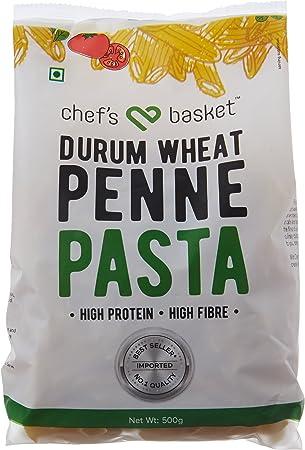 Chefs Basket Durum Wheat Penne Pasta, 500g