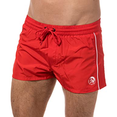 a4374f425c4 Diesel Mens BMBX Sandy E Swim Shorts in Red  Diesel  Amazon.co.uk  Clothing