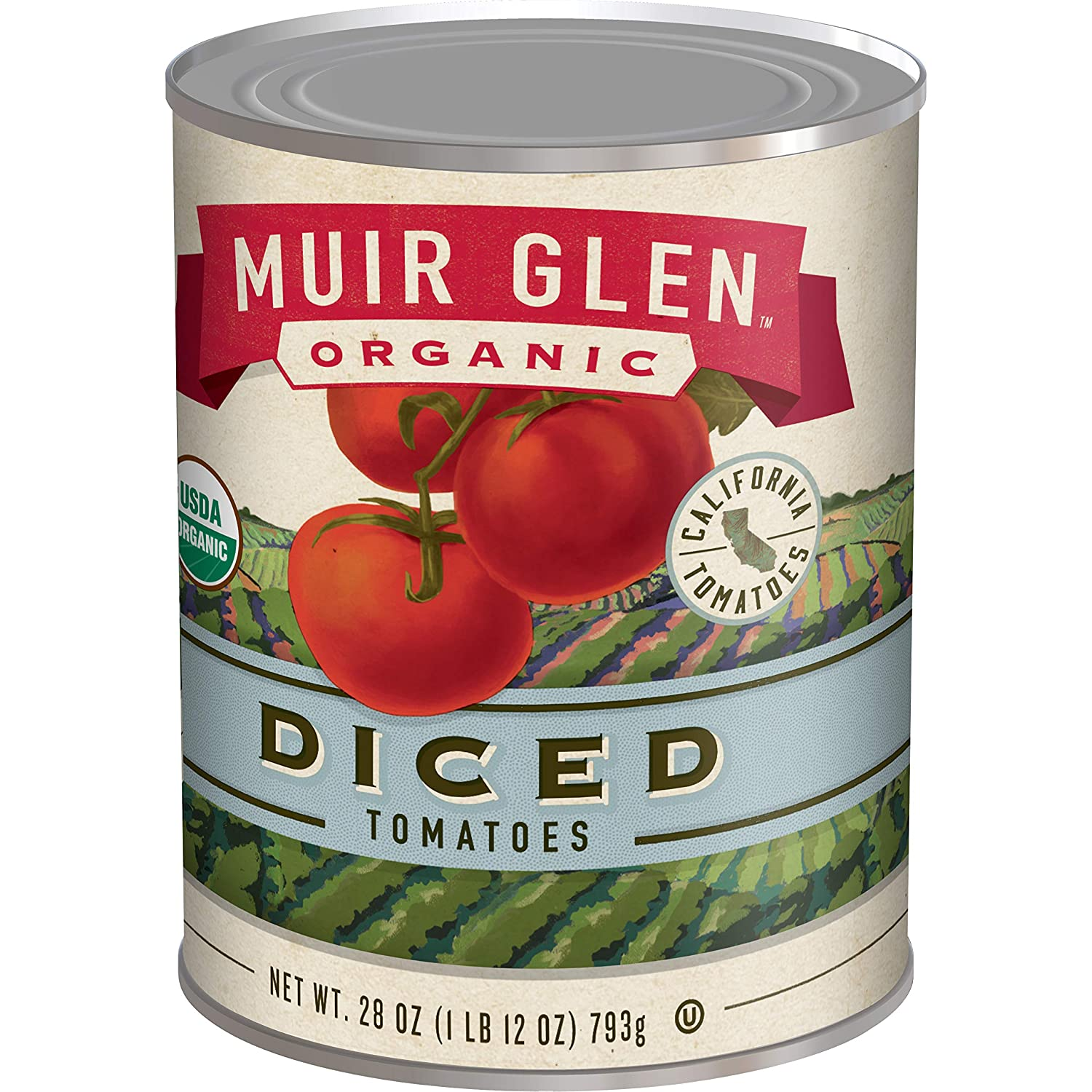 Amazon Com Muir Glen Canned Tomatoes Organic Diced Tomatoes No Sugar Added 28 Ounce Can Prime Pantry