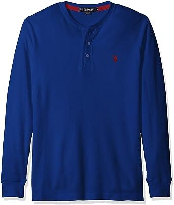 Polo RALPH LAUREN Men/'s XXL Henley Blue Cotton Long Sleeve