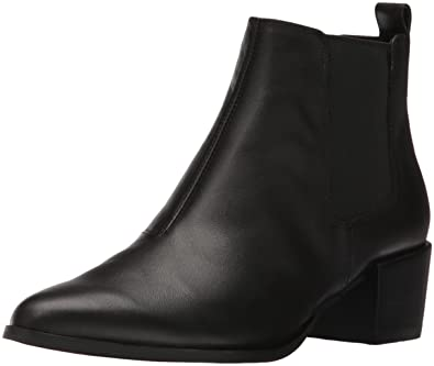 Steve Madden Women's Vanity Ankle Bootie, Black Leather, 9.5 M US