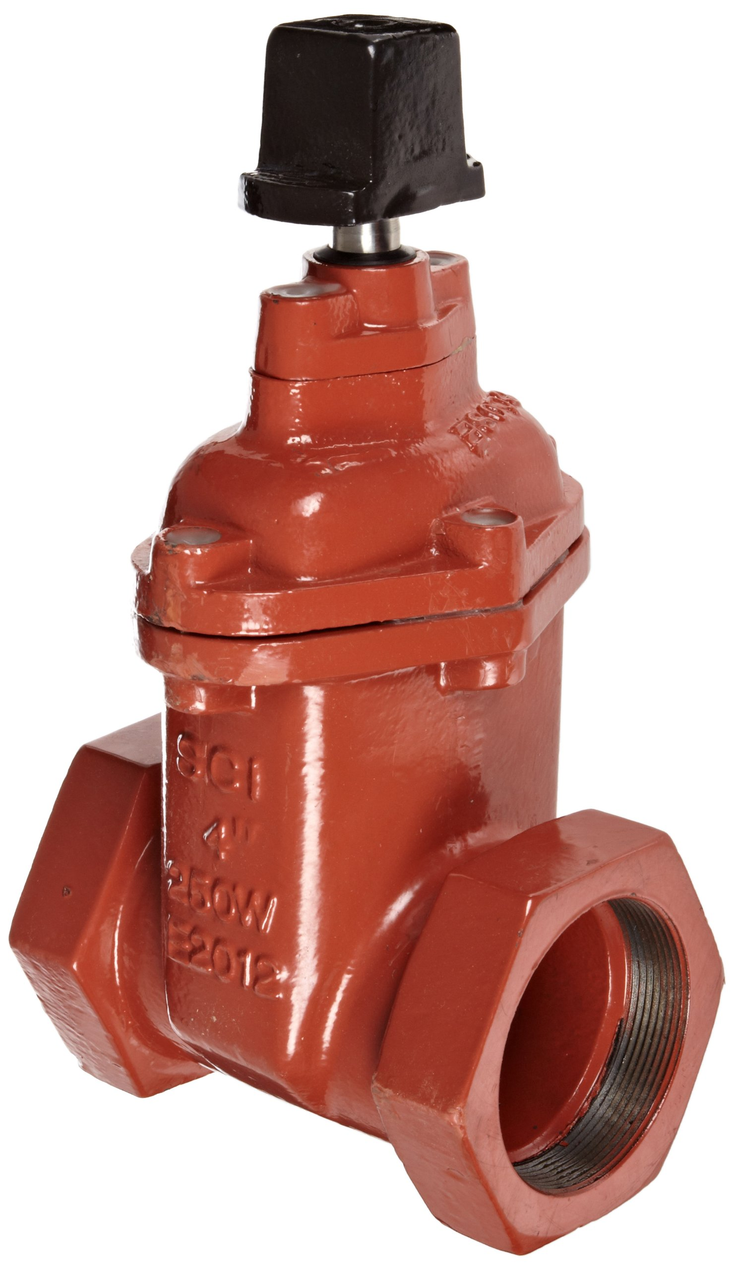 Smith-Cooper International 10NW Series Iron Gate Valve with Operating Nut, Non-Rising Stem, Inline, 2'' NPT Female