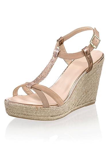 Alba Moda Damen Sandalette mit Sommerlichem Keilabsatz  Amazon.de ... 6a5b14d2df