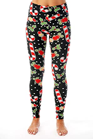7240f139b5deee Just Love Ugly Christmas Holiday Leggings at Amazon Women's Clothing ...