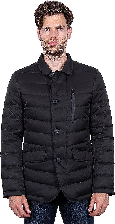 Ptyhk RG Mens Thicken Fleece Lined Winter Warm Jacket With Fur Collar