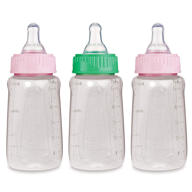 GERBER First Essentials 9 oz Baby Bottles ruber Nipples BPA-free 6 pack white