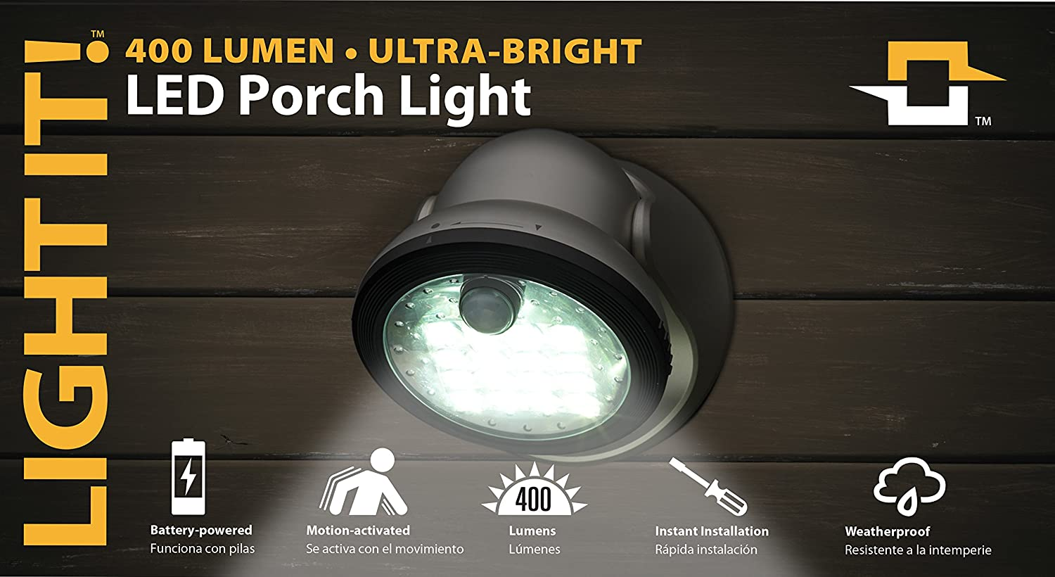 By Fulcrum, 16-LED Motion Sensor Security Light, Battery Operated, Silver - - Amazon.com