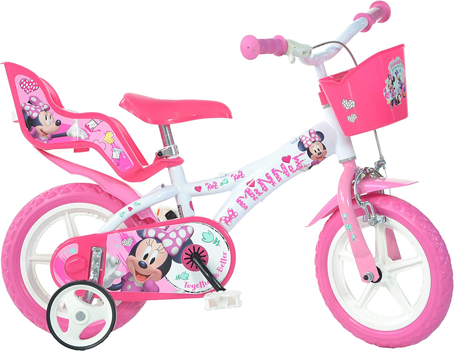 Dino Bikes Minnie Mouse Licensed 12 Inch Bicycle: Amazon.es ...