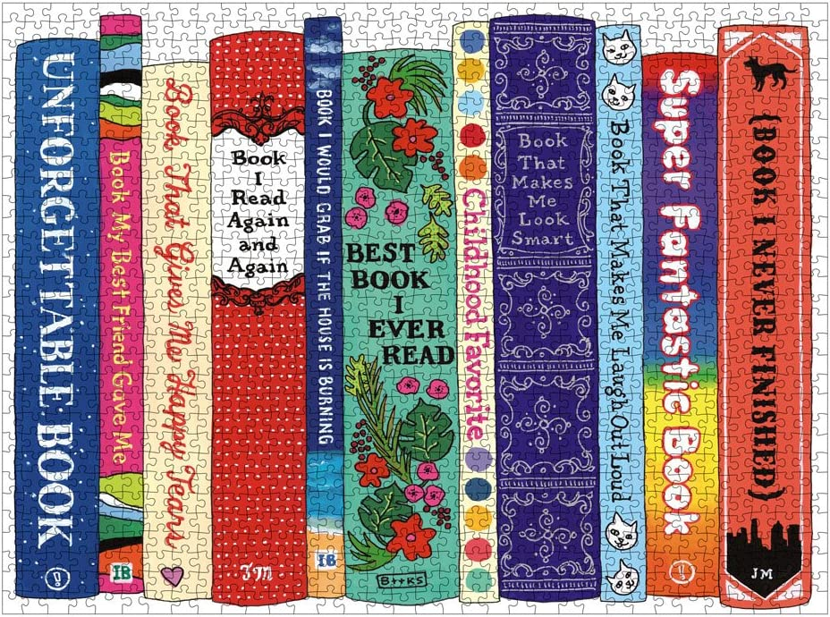 Amazon.com: Galison Ideal Bookshelf: Universals Puzzle, 1000+ ...