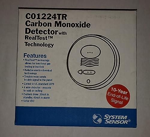 System Sensor CO1224TR Carbon Monoxide Alarm, 12 24 VDC, 4-Wire