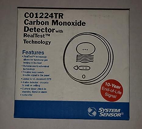 Carbon Monoxide Alarm, 12/24 VDC, 4-Wire