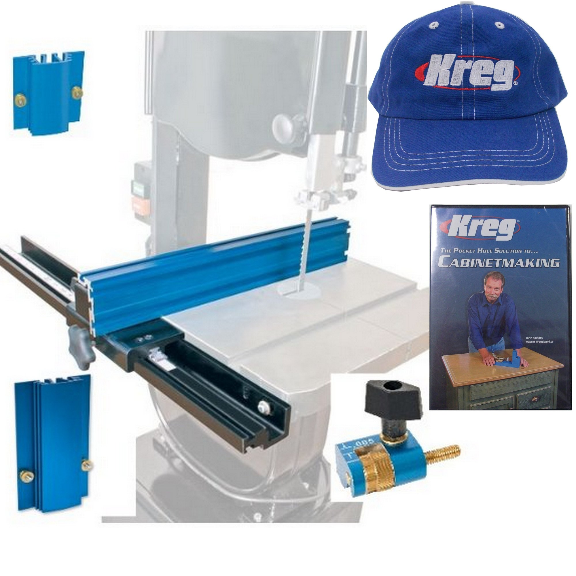 KMS7200 Band Saw Fence with KMS7213 & KMS7214 & KMS7215 HAT and Cabinetmaking DVD