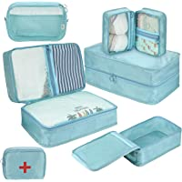 DIMJ Packing Cubes for Travel, 6 Pcs Travel Cubes for Suitcase Lightweight Travel Essential Bag with Large Toiletries…