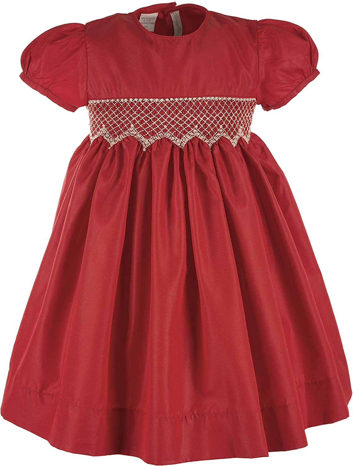 Carriage Boutique Girls Red Christmas Holiday Dress Hand Smocked