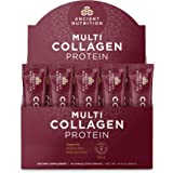 Ancient Nutrition Multi Collagen Protein Powder Stick Packs, Pure, Formulated by Dr. Josh Axe, Supplement Supports Hair, Skin, Nails, Joints and Gut Health, 5 Types of Food Sourced Collagen, 40 Count