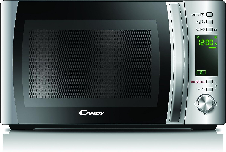 Candy CMXG20DS Microondas con grill y cook in app, Capacidad 20L, 40 Programas automáticos, Plato giratorio 24,5cm, Potencia 700W, Acero inoxidable antihuellas, 700 W, 20 litros
