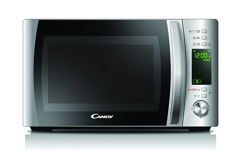 Candy Microonde CMXG20D - Grill e App Cook-in, 20L, 40 Programmi Automatici, 700 W, Argento [Classe di efficienza energetica A] CMXG 20DS