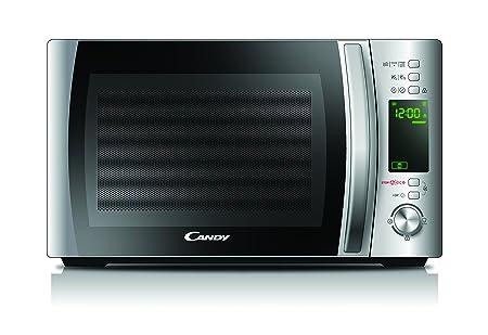 Candy CMXG 20DS - Microondas con Grill y Cook In App, 40 Programas Automáticos, 700 W, 20 L, Plata