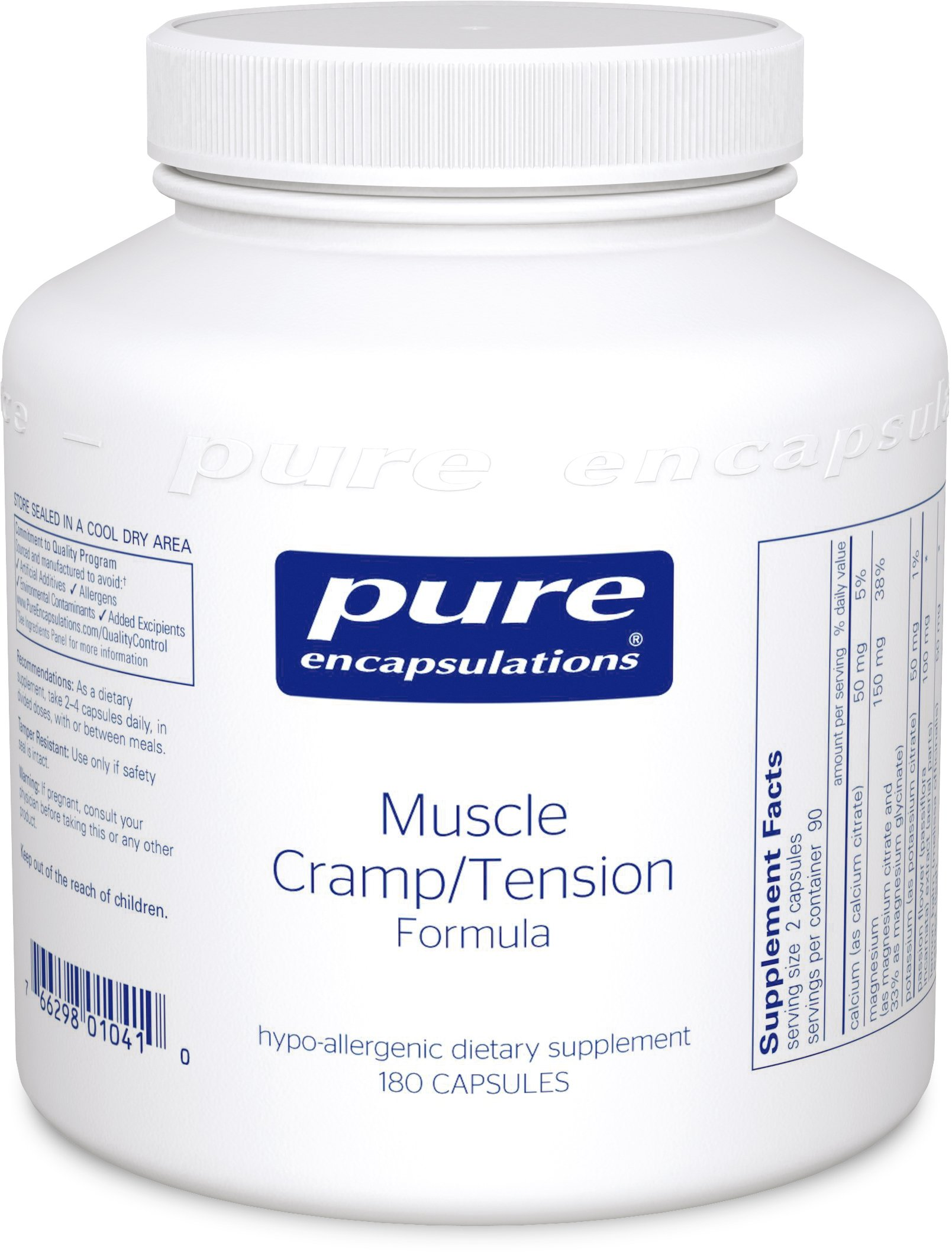 Pure Encapsulations - Muscle Cramp/Tension Formula - Hypoallergenic Supplement to Reduce Occasional Muscle Cramps/Tension and Promote Relaxation* - 180 Capsules by Pure Encapsulations