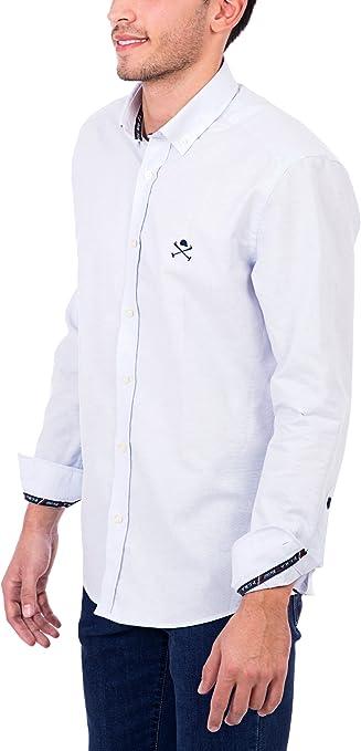 POLO CLUB Camisa Hombre Academy CRO Oxford Azul Celeste L: Amazon ...