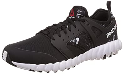 84fd4c925bfd Reebok Men s Twistform 2.0 Gr Black and White Running Shoes - 10.5 ...