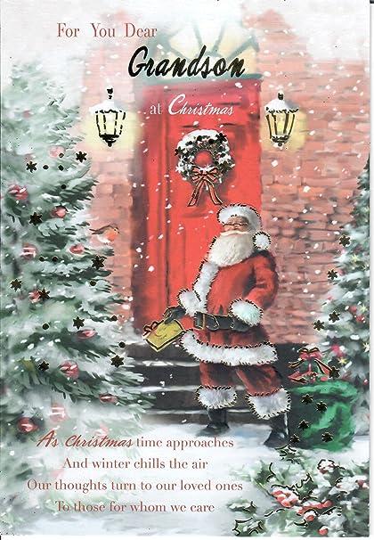 Auguri Di Natale Al Nipotino.Per Lei Caro Nipote Biglietto Di Auguri Di Natale Amazon It