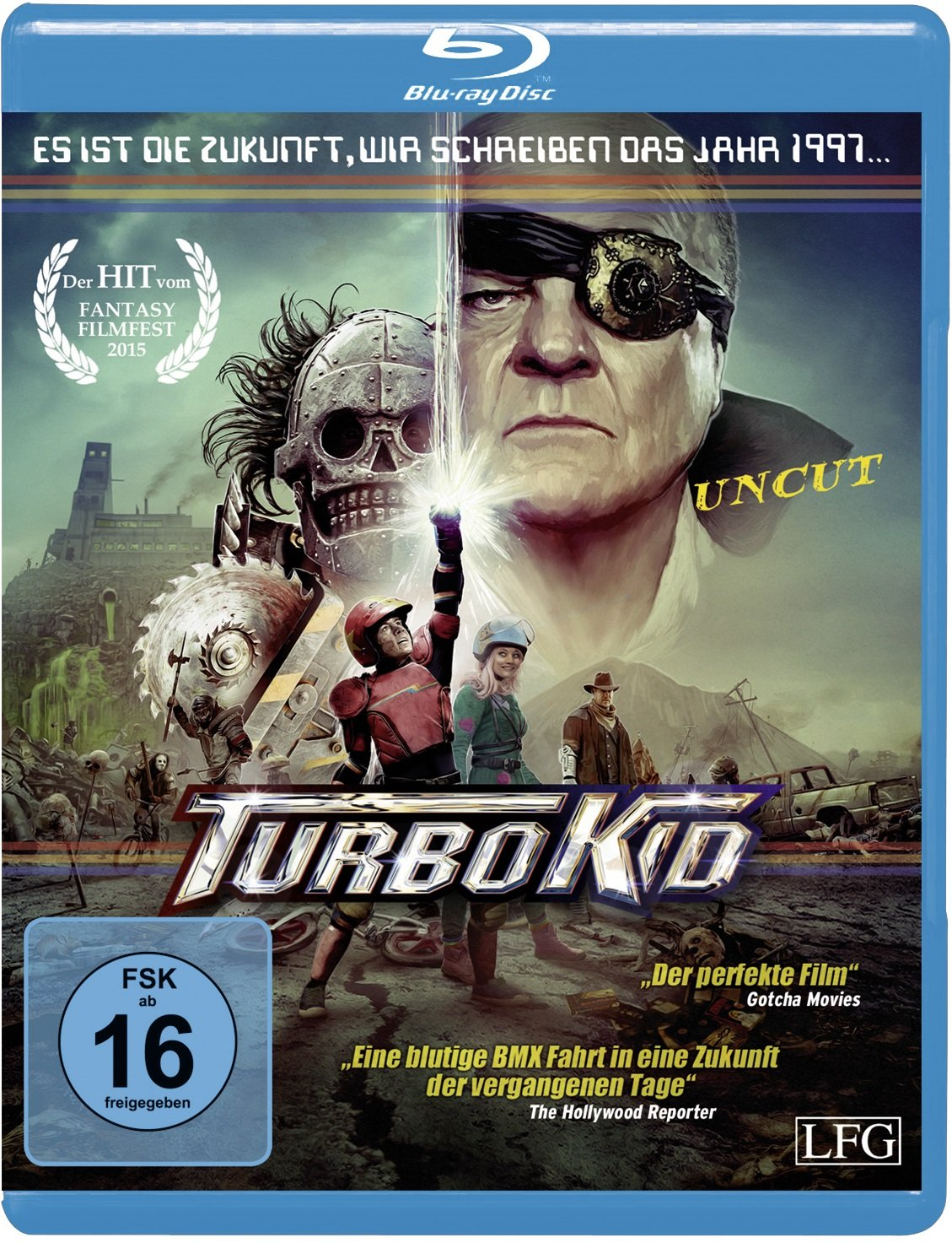Turbo Kid - Uncut [Alemania] [Blu-ray]: Amazon.es: Munro Chambers, Laurence Leboeuf, Michael Ironside, Francois Simard, Anouk Whissell, Yoann-Karl Whissell: ...