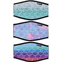 Bluecell 2pcs Ocean Pattern Neoprene Diving Mask Strap Cover