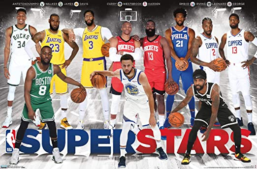 NBA League Superstars Poster (86,4cm x 56,8cm): Amazon.es: Hogar