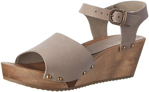 Sanita Women's Olisa Wedge Flex Sandal Wedge Heels Sandals Grey Size: 4