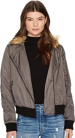 4ba9ddb372 Amazon.com  BB Dakota Women s Powell Military Jacket with Faux Fur ...