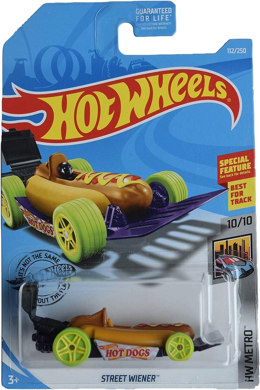 Hot Wheels 2019 HW Metro Street Wiener (Hot Dog Car) 112/250, Brown and Purple