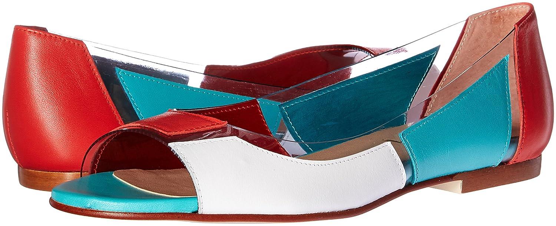 French Sandal Sole FS/NY Women's Nisim Flat Sandal French B01M1N695U 8 B(M) US|Coral/White/Aqua 4e539c