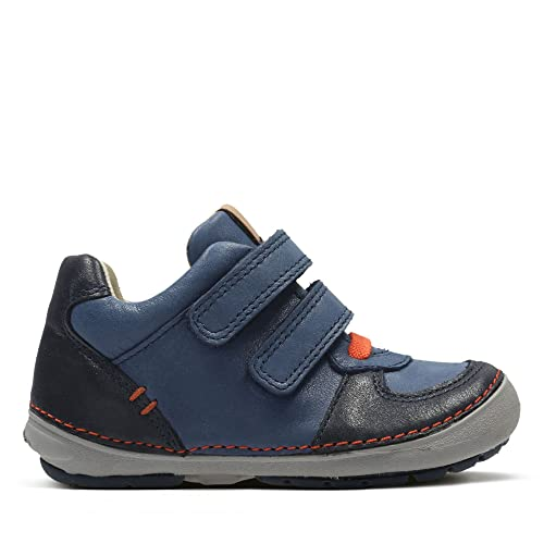 Clarks softly Pow Boys First Boots 4 G Navy