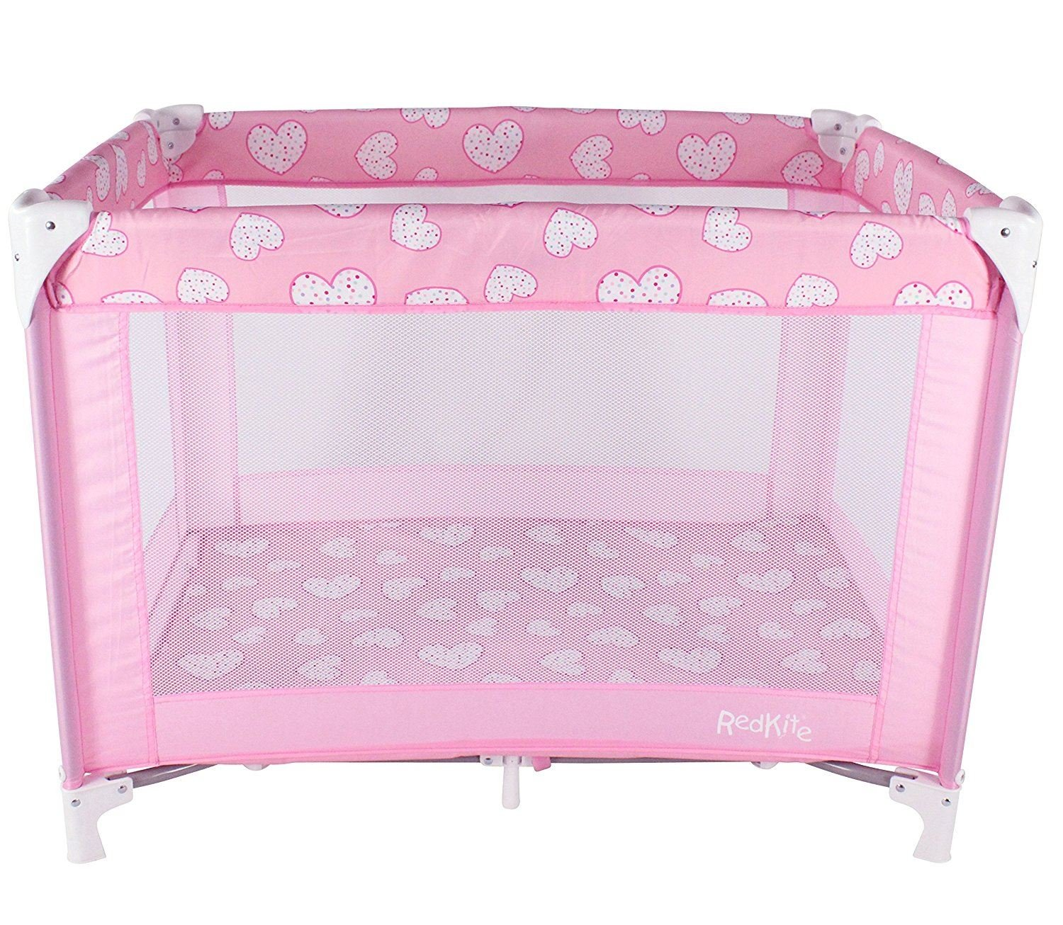 Redkite Sleeptight Travel Cot - Pink Pretty Kitty Brand New Baby (Dispatched from UK)